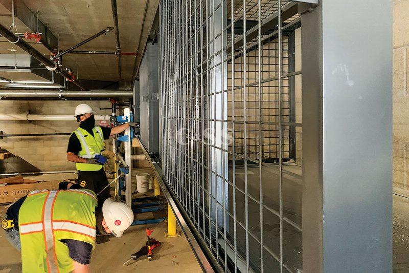 Steel Welded Wire Tenant Storage Lockers