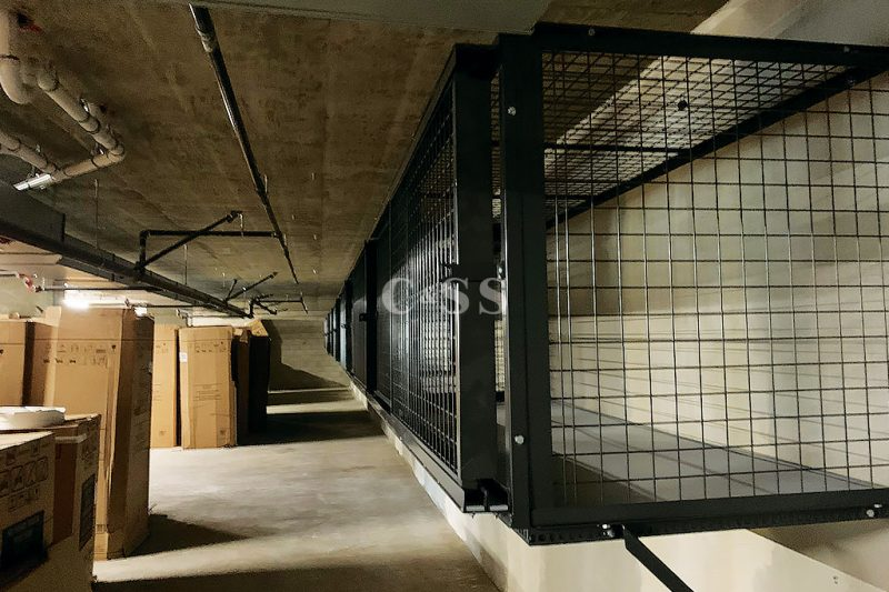 Welded Mesh Locker Construction Is Strong and Secure