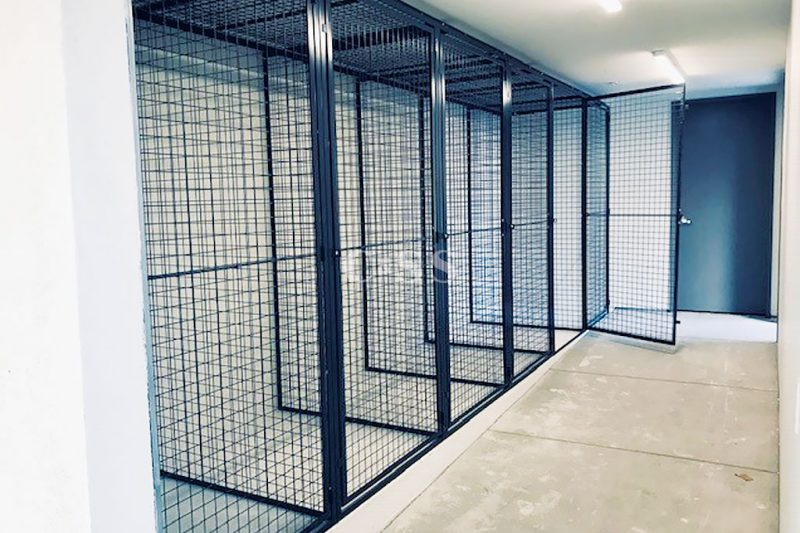 Steel Tenant Storage Lockers for Resident Safety