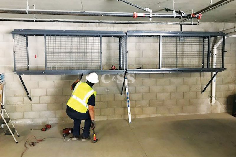 Tenant Storage Lockers Made from Ten Gauge Wire