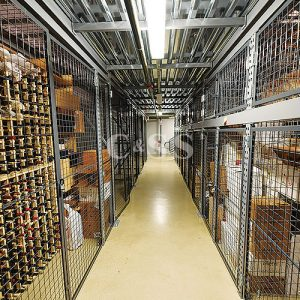 Commercial Wine Lockers in Warehouse Facility