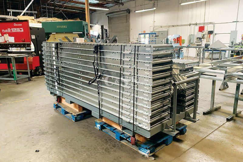 Custom Gravity Roller Conveyor Design for Navy Ship