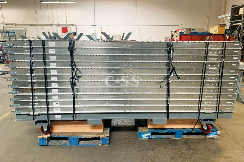 Heavy Duty Roller Conveyor Systems to Feed Military Troops