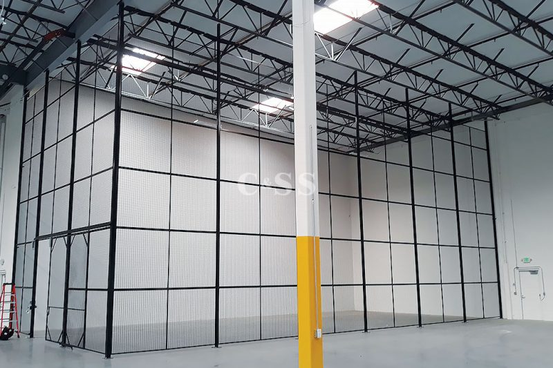Metal Mesh Storage Cages for Earthquake Safety