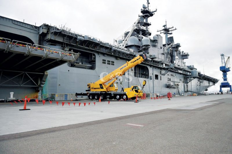 Military Aircraft Carrier Uses Gravity Roller Conveyor Design