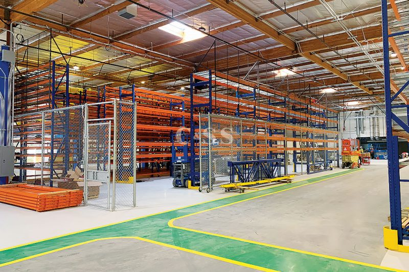 Mining Electric Vehicle Uses Pallet Racking System