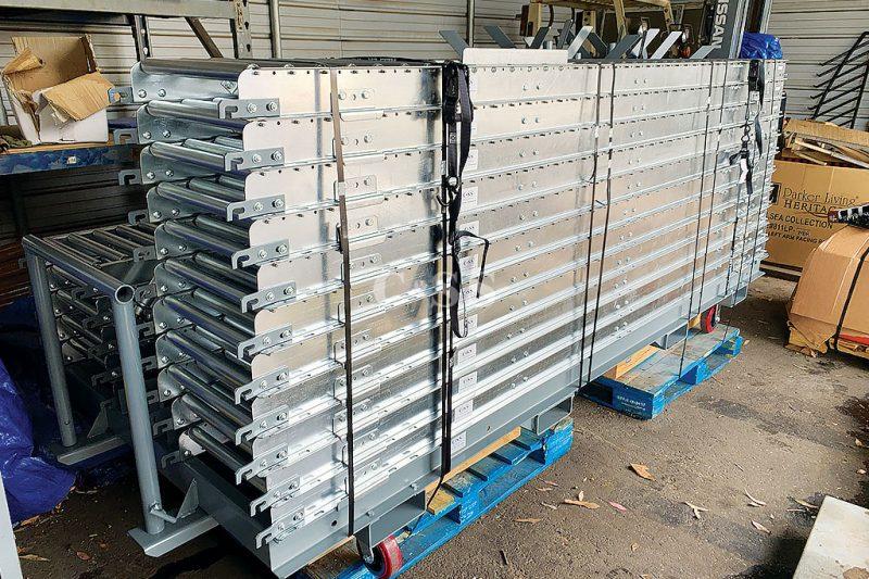 Naval Aircraft Carrier Cafeteria Uses Roller Conveyor Design