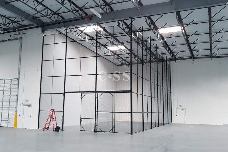 Steel Mesh Storage Cages to Store Hardware