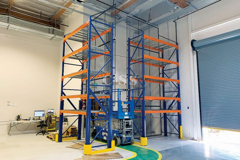 Warehouse Pallet Racking to Secure Mining Vehicle Materials