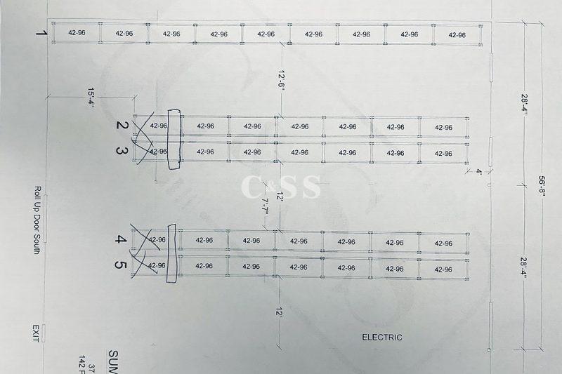 CAD Drawing of Each Wine Storage Locker On Application