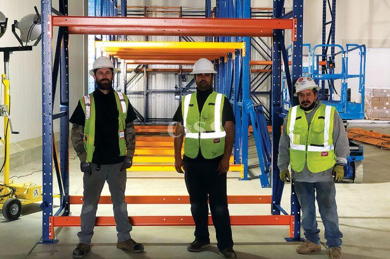Installation Team Builds Steel Pallet Racks for Meat