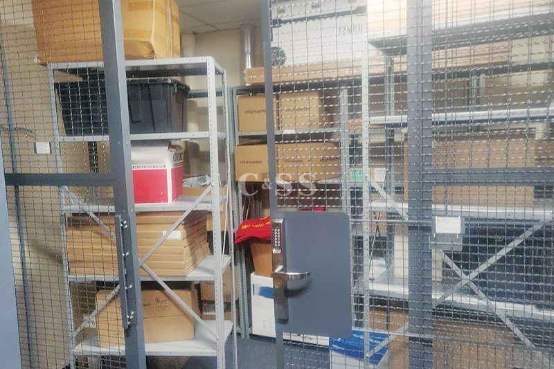 Military Storage Facility Uses Wire Mesh Partitions