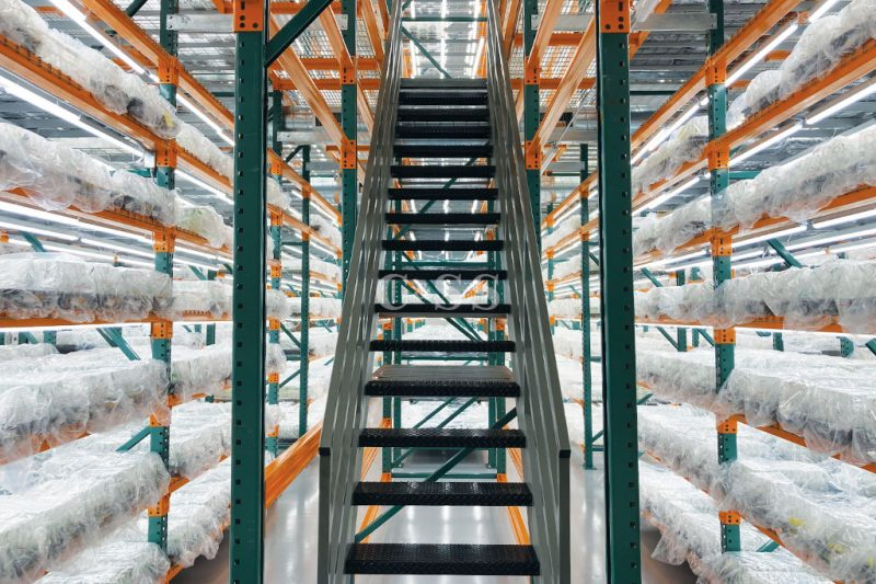 Pallet Rack Systems Stairs Takes You to Plant Products