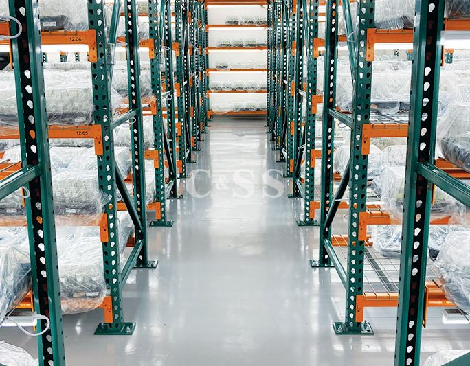 Pallet Racks Used in Healthy Plant Warehouse Facility