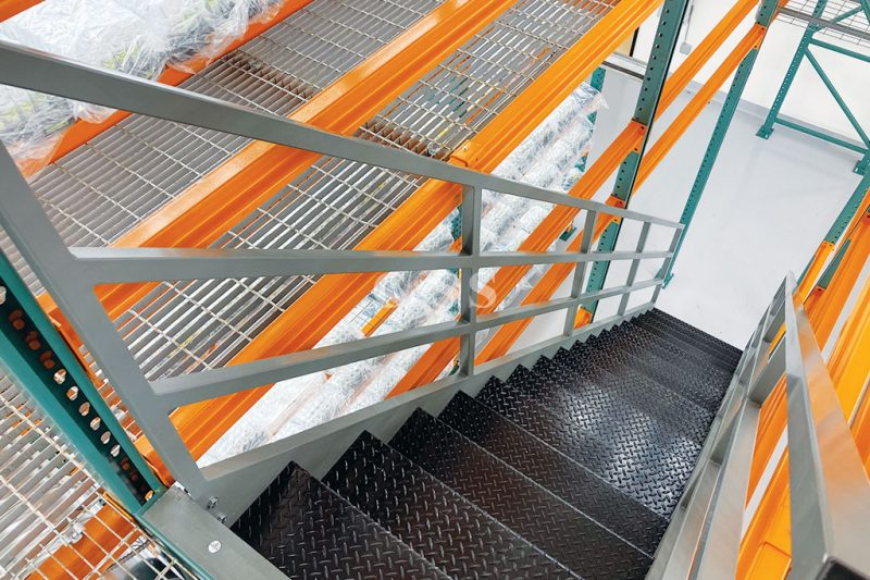 Plant Business Has Staircase Added to Pallet Racking System